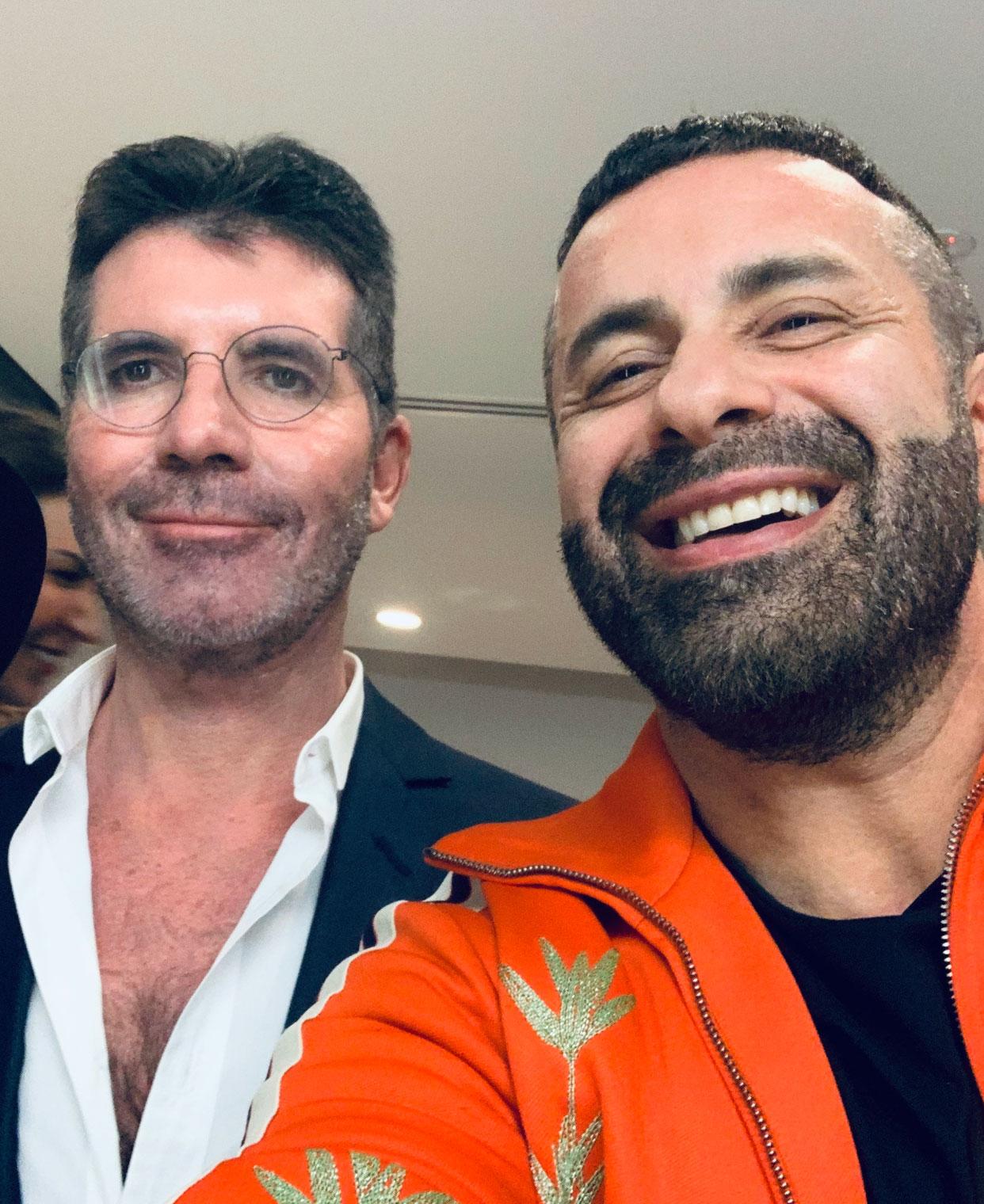 Luca Tommassini e Simon Cowell X Factor UK Celebrity